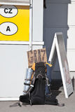 Hitchhiking on Europe Stock Photography