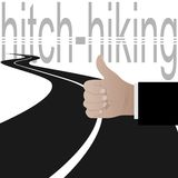Hitchhiking Royalty Free Stock Photo