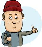 Hitchhiking Man vector illustration