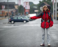 Hitchhiking - mode of travel Royalty Free Stock Photography