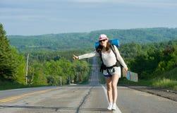 Hitchhiking travel Stock Photo