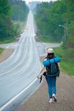 Hitchhiking travel Royalty Free Stock Photography