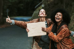 Hitchhiking Royalty Free Stock Image