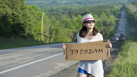Hitchhiking Stock Image