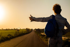 Hitchhiking Royalty Free Stock Images
