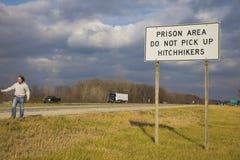 Hitchiking au Michigan Photo libre de droits
