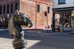 Image result for mule on hitching post in town, free images