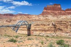 Hite Crossing Bridge across Colorado River in Glen Canyon National Recreation Area Royalty Free Stock Photography