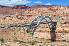 Hite Crossing Bridge across Colorado River in Glen Canyon National Recreation Area Stock Photo