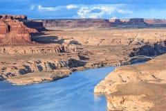 Hite Crossing Bridge across Colorado River in Glen Canyon National Recreation Area Stock Photos