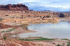 Hite-Jachthafen auf See Powell und der Colorado in Glen Canyon National Recreation Area Stockfotos