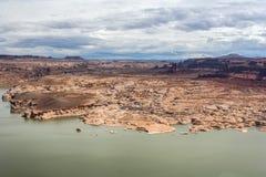 Hite Marina Campground auf dem Colorado in Glen Canyon National Recreation Area stockfotos