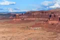 Hite Marina Campground auf See Powell und der Colorado in Glen Canyon National Recreation Area lizenzfreies stockfoto