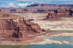 Hite Marina on Lake Powell and Colorado River in Glen Canyon National Recreation Area Stock Image