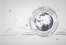 抽象hitech数字式全球性背景 免版税图库摄影