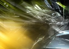 Hitech background 01. Hitech background design in blue- green- yellow color Royalty Free Stock Image