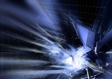 Hitech background. Hitech blast background design in bluish color Royalty Free Stock Image