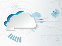 Hitech business background. Web-based cloud technologies. Web-based cloud technologies. Hitech business background used gradient Royalty Free Stock Photos