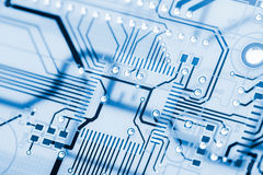 HiTech Circuit Board Back Light Stock Photos