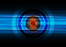 Hitech eyeball background Stock Photo
