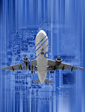 HiTech. Illustration of high technology in aviation industry. (Concept of Complexity Royalty Free Stock Photos