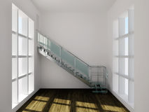 Hitech stairs Stock Photo