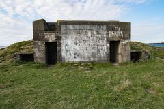 Bunkers from the ww2 in stavanger town Royalty Free Stock Photo