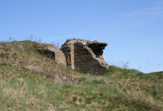 Bunkers. Hitler's bunker destroyed by Soviet troops royalty free stock photo