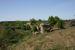 Bunkers. Hitler's bunker destroyed by Soviet troops royalty free stock photography