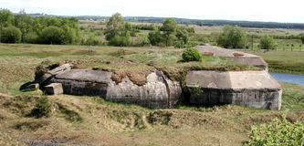 Bunkers. Hitler's bunker destroyed by Soviet troops royalty free stock photos