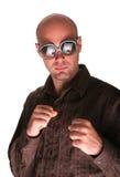 Hitman. Bald man show his fist Royalty Free Stock Photography