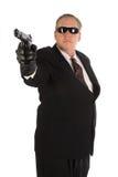 Hitman with gun. Royalty Free Stock Images
