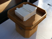 Hitogata, document pop voor Shinto-ritueel wordt gebruikt dat royalty-vrije stock afbeelding