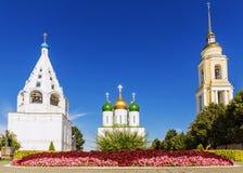 Hitos históricos de Kolomna, Rusia Foto de archivo libre de regalías