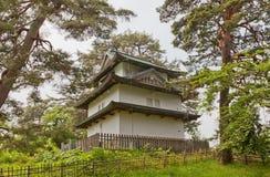 Hitsujisaru torn av den Hirosaki slotten, Hirosaki stad, Japan Royaltyfri Foto