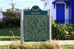 Hitsville USA Plaque. Image of a commemorative plaque in front of the Motown Museum located in Detroit, Michigan Stock Photos