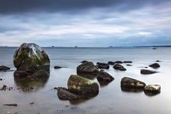 Hittarp海滩冰砾 库存图片