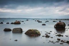 Hittarp海滩风景 免版税库存照片