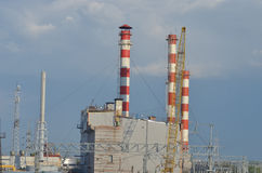 Hitte electropower post Hoofdpijpleiding over lange afstand Stock Fotografie