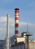 Hitte electropower post Hoofdpijpleiding over lange afstand Royalty-vrije Stock Fotografie