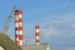 Hitte electropower post Hoofdpijpleiding over lange afstand Royalty-vrije Stock Foto