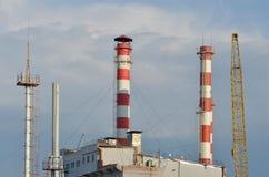 Hitte electropower post Hoofdpijpleiding over lange afstand Royalty-vrije Stock Afbeelding