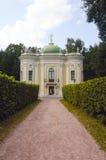Hitte Kuskovo De Combinatie van het kluispaviljoen verschillende stijlen Stock Fotografie