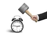 Hitting Alarm Clock Royalty Free Stock Photo