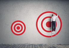Hitting bigger business target royalty free stock photo