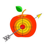 Hitting the bullseye target. Royalty Free Stock Photography