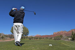 Hitting a Drive in Sedona Stock Photos