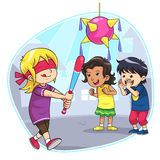 Hitting Pinata Stock Images