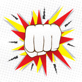 Hitting punch design Royalty Free Stock Photo
