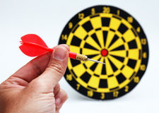 Hitting target Stock Photo